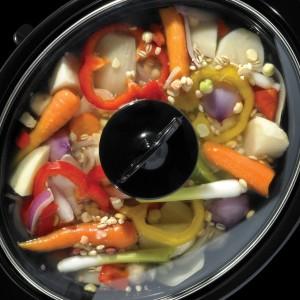 Avec la mijoteuse, la cuisson des aliments se fait à couvert